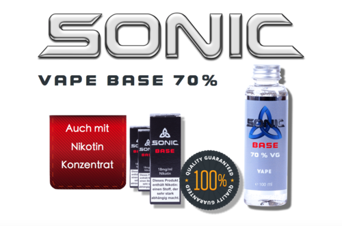 SONIC VAPE BASE 100ml - 70 VG