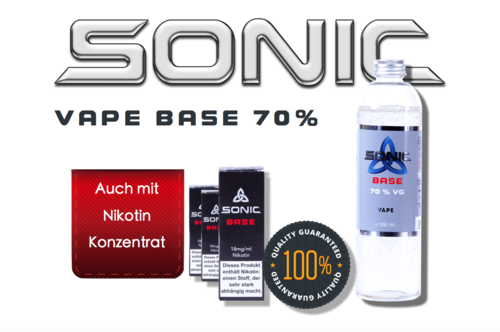 SONIC VAPE BASE 300ml - 70 VG